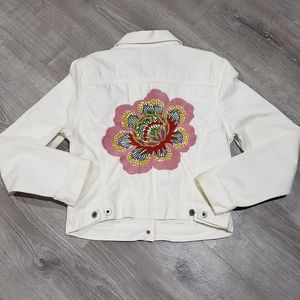 Lucky Brand Embroidered Jean Jacket